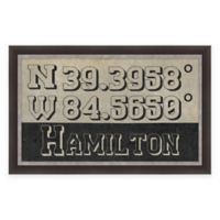 Hamilton Ohio Coordinates Framed Wall Art