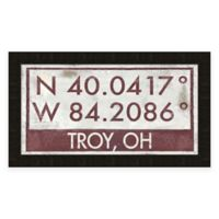 Troy Ohio Coordinates Framed Wall Art