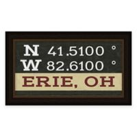 Erie Ohio Coordinates Framed Wall Art