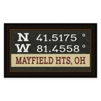 Mayfield Ohio Coordinates Framed Wall Art
