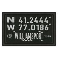 Williamsport PA Coordinates Framed Wall Art