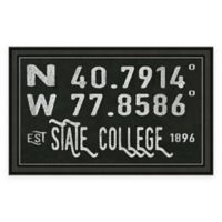 State College PA Coordinates Framed Wall Art