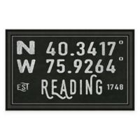 Reading PA Coordinates Framed Wall Art