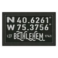 Bethlehem PA Coordinates Framed Wall Art