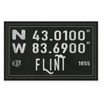 Flint MI Coordinates Framed Wall Art