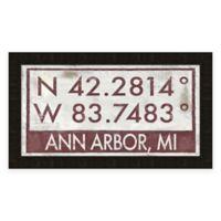 Ann Arbor MI Coordinates Framed Wall Art