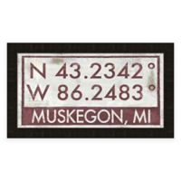 Muskegon MI Coordinates Framed Wall Art