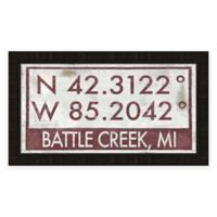 Battle Creek MI Coordinates Framed Wall Art