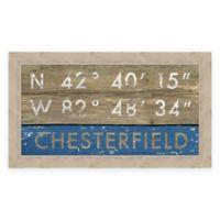 Chesterfield MI Coordinates Framed Wall Art