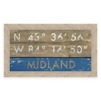 Midland MI Coordinates Framed Wall Art