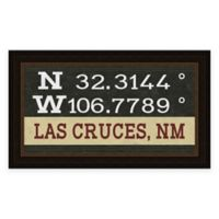 Framed Giclée Las Cruces, NM Coordinates Print Wall Art