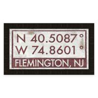 Flemington, NJ, Coordinates Framed Wall Art
