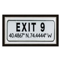 Exit 9, NJ, Coordinates Framed Wall Art