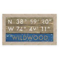 Wildwood, NJ, Coordinates Framed Wall Art