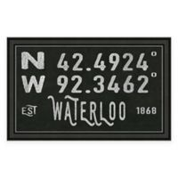 Waterloo, IA, Coordinates Framed Wall Art