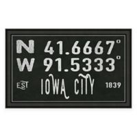 Iowa City, IA, Coordinates Framed Wall Art