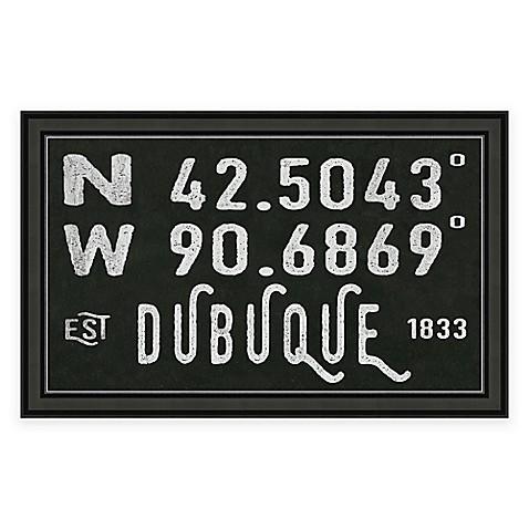 Dubuque Ia Coordinates Framed Wall Art Bed Bath Amp Beyond