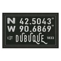 Dubuque, IA, Coordinates Framed Wall Art