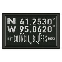 Council Bluffs, IA, Coordinates Framed Wall Art