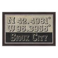 Sioux City, IA, Coordinates Framed Wall Art