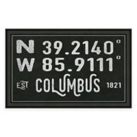 Columbus Coordinates Framed Giclee Wall Art
