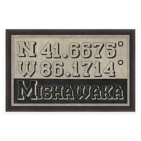 Mishawaka Coordinates Framed Giclee Wall Art