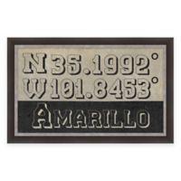 Framed Giclée Amarillo, TX Coordinates Print Wall Art