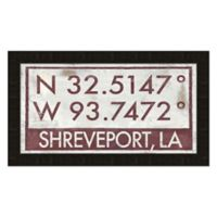 Framed Giclée Shreveport Coordinates Print Wall Art
