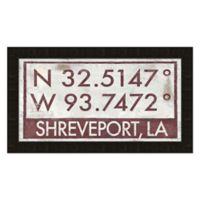 Framed Giclée Shreveport Coordinates Print Wall Art