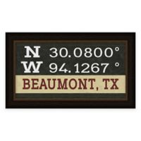 Framed Giclée Beaumont, TX Coordinates Print Wall Art