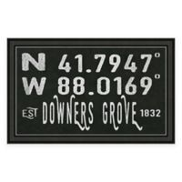 Downers Grove, IL, Coordinates Framed Wall Art