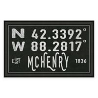 McHenry, IL, Coordinates Framed Wall Art