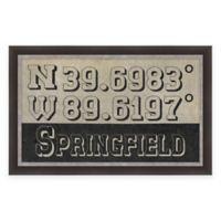 Springfield, IL, Coordinates Framed Wall Art