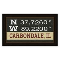 Carbondale, IL, Coordinates Framed Wall Art