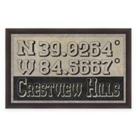 Crestview Hills Coordinates Framed Giclee Wall Art