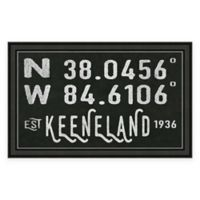 Keeneland Kentucky Coordinates Framed Wall Art