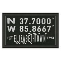 Elizabethtown Kentucky Coordinates Framed Wall Art