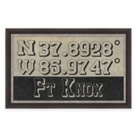 Fort Knox Kentucky Coordinates Framed Wall Art