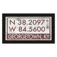 Georgetown Kentucky Coordinates Framed Wall Art