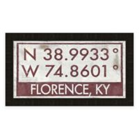 Florence Kentucky Coordinates Framed Wall Art