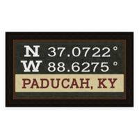 Paducah Kentucky Coordinates Framed Wall Art
