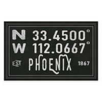 Phoenix Arizona Coordinates Framed Wall Art