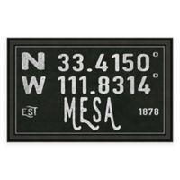 Mesa Arizona Coordinates Framed Wall Art