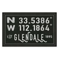 Glendale Arizona Coordinates Framed Wall Art