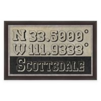 Scottsdale Arizona Coordinates Framed Wall Art
