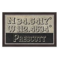 Prescott Arizona Coordinates Framed Wall Art