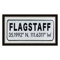 Flagstaff Arizona Coordinates Framed Wall Art