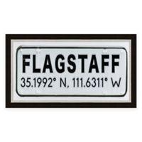 Flagstaff Arizona Coordinates Framed Wall Art