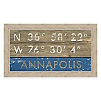 Annapolis, Maryland Coordinates Framed Wall Art