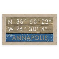 Annapolis, MD, Coordinates Framed Wall Art